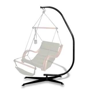 hanging chair stand green banquet covers wayfair deanna c hammock