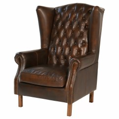 Leather Wingback Chairs Shower Chair Walmart Joseph Allen Old World Wayfair