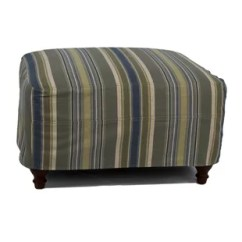 Armchair And Ottoman Slipcover Set Upholstered Dining Room Chairs Chair Slip Cover Wayfair Seacoast