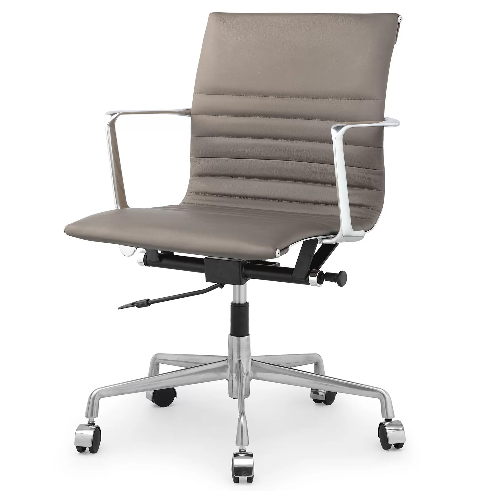 desk chair reviews tubular steel design meelano leather and wayfair