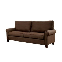 Brown Fabric Sofa Ikea Futon Bed Wayfair Hani Flax