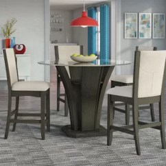 Round Table And Chairs Set Folding Chair Desk Kitchen Dining Room Sets You Ll Love Wayfair Kangas 5 Piece Counter Height