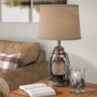"Akron Oil Lantern 26.75"" Table Lamp & Reviews"