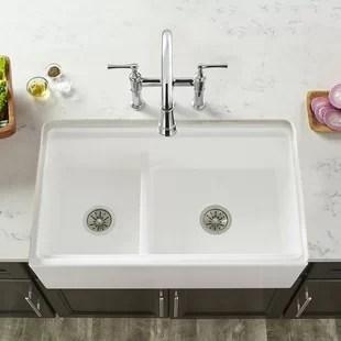 kitchen sink farmhouse beadboard cabinets sinks you ll love wayfair quickview