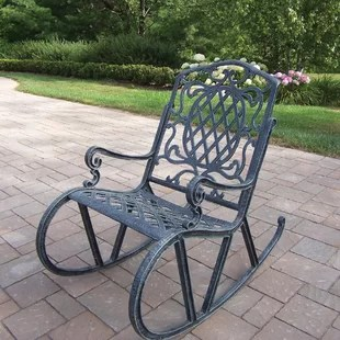 wrought iron rocking chair sheboygan company chairs wayfair quickview