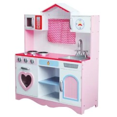 Toy Kitchens Kitchen Cart On Wheels Kids Wayfair Co Uk Javen Children Wooden Play Set
