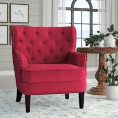 Accent Living Room Chairs With Arms Small Slipper Chair Red You Ll Love Wayfair Quickview