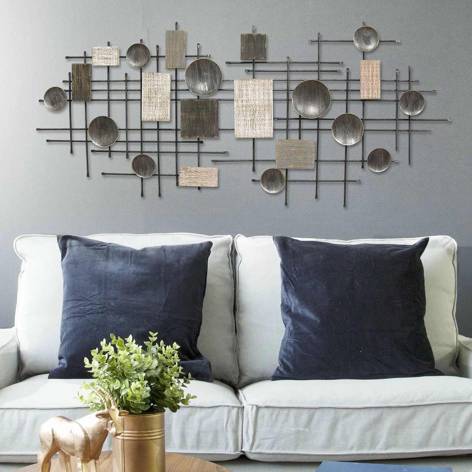 large modern industrial wall