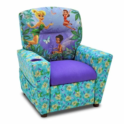 kid recliner chair zeus thunder ultimate gaming systems kidzworld disney s fairies kids with cup holder reviews wayfair