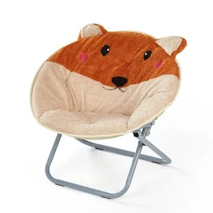 kids plush chairs high chair age animal wayfair baty saucer
