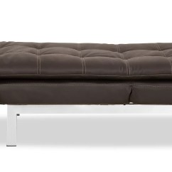 Euro Sofa Mondo Chesterfield Velvet Grey Futon Chaise
