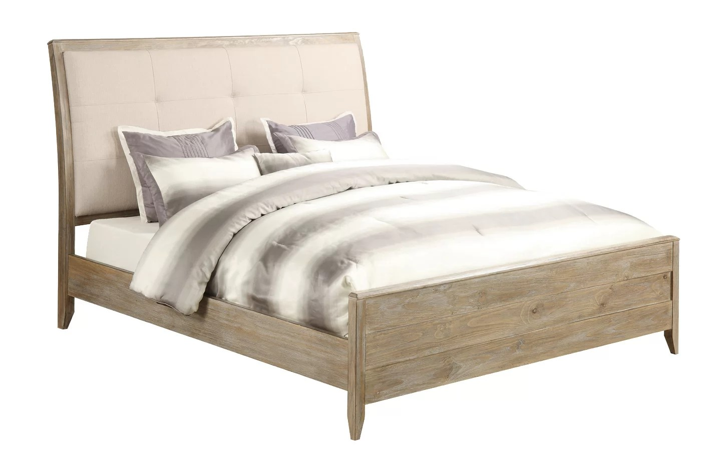 Gracie Oaks Fedna Upholstered Panel Bed