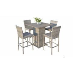 Bar Height Table And Chairs Outdoor Wheelchair Jacket Modern Contemporary Allmodern Falmouth 5 Piece Dining Set