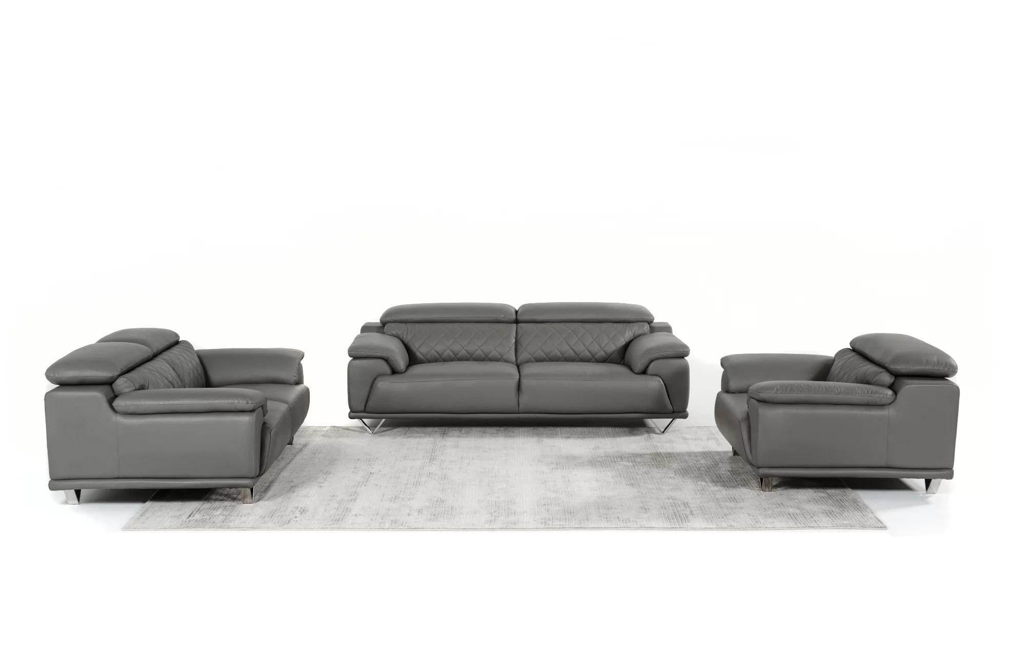 3 piece black leather living room set ideas for small modern orren ellis cardinale wayfair