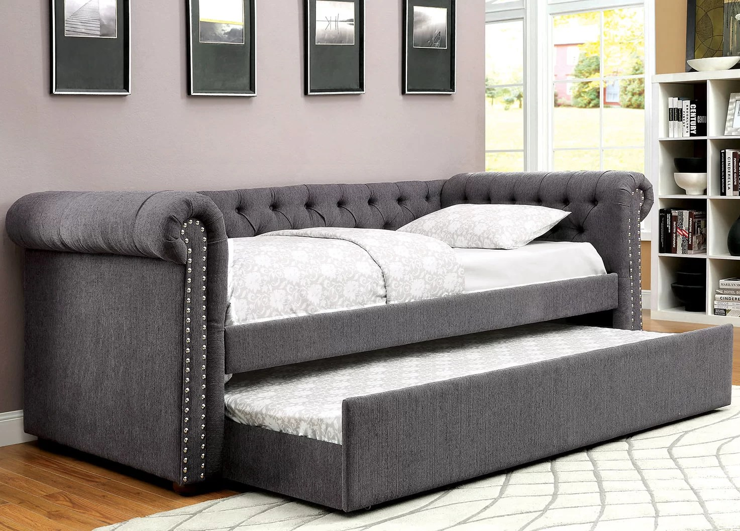 leona sofa bed lazy boy reclining manual a andj homes studio daybed with trundle you 39ll love