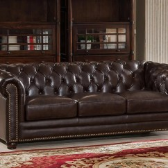 Kensington Sofa Bed Reviews Apartment Style Sectional Amax Top Grain Leather Chesterfield