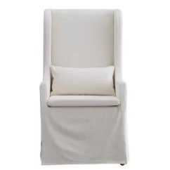 White Tufted Chair Side Chairs With Casters Accent Joss Main Quickview