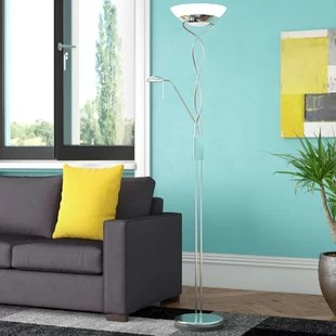 living room standing lamp curtain ideas grey sofa floor lamps tripod wayfair co uk quickview