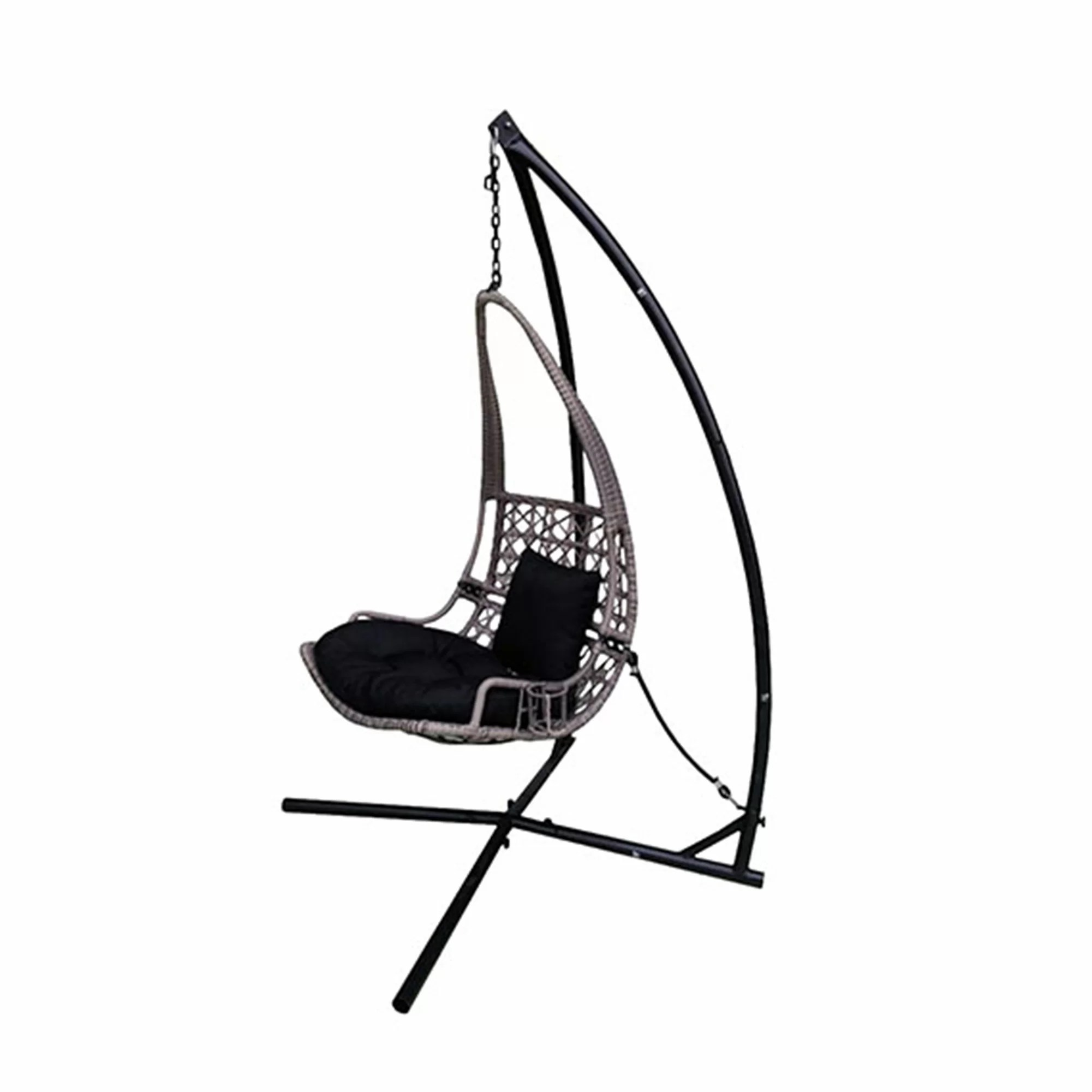Swing Chair Stand Newlon Wicker Rattan Hanging Swing Chair With Stand