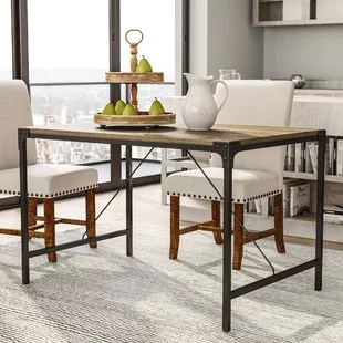 kitchen table corner booth seating dining tables you ll love wayfair ca madeline angle iron and wood
