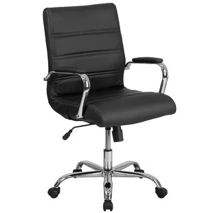 desk chair with wheels reclining and a half leather office chairs joss main