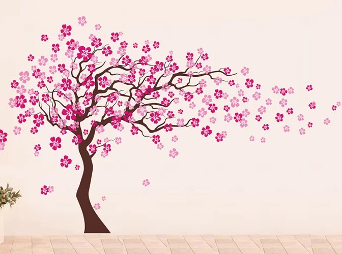 pop decors cherry blossom tree wall decal reviews wayfair