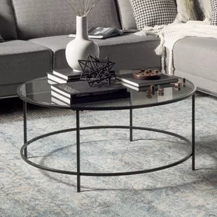 glass table sets for living room fabric rocking chairs furniture coffee tables you ll love wayfair ca save