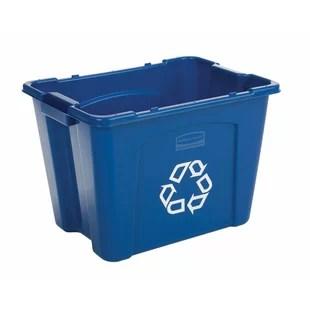 kitchen recycle bin curtain for window wayfair 14 gallon recycling