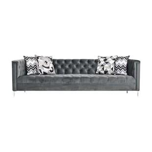 modern twine curved arm sofa tuscan design hollywood regency wayfair chesterfield