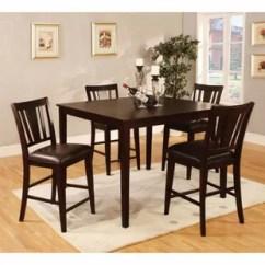 High Top Kitchen Table Set Modular Countertops Dining Wayfair Felten Wooden Square 5 Piece Counter Height