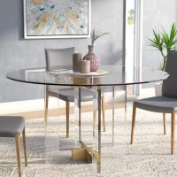 Willa Arlo Interiors Gosta Round Glass Dining Table ...