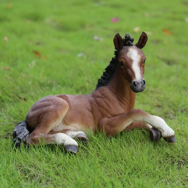 HiLine Gift Ltd Laying Down Horse Colt Statue  Reviews  Wayfair