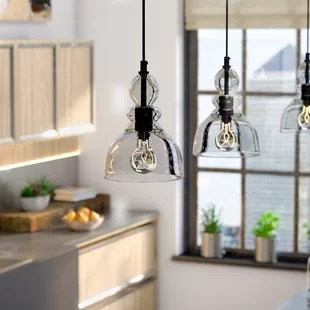 kitchen light pendants outdoor cabinets pendant lighting you ll love wayfair quickview