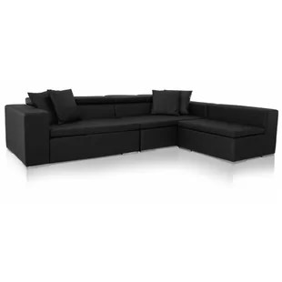 living room black leather sectional ideas for wall with tv modern sectionals allmodern quickview