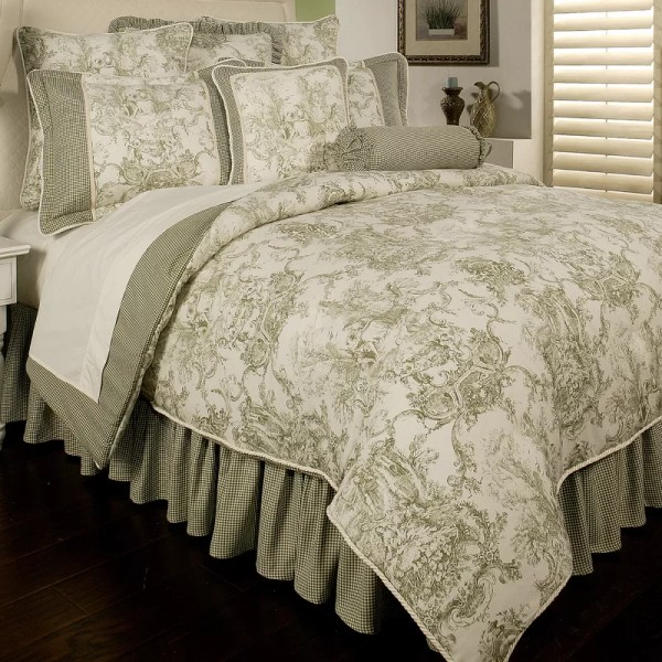 Sherry Kline Country Toile 6 Piece Comforter Set &