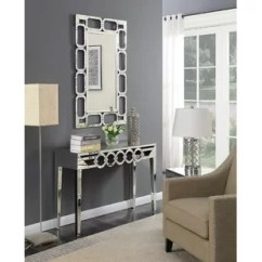 Living Room Console Tables Mirrored Window Valances Table And Mirror Set Wayfair Co Uk Badgley