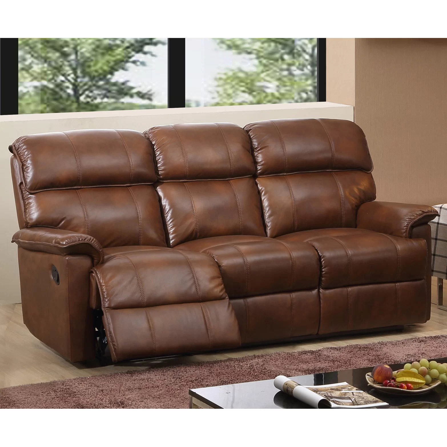 sofa set below 3000 in hyderabad wood frame diy home and haus solenson leather layflat reclining 3 seater