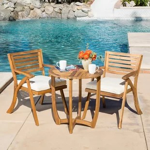 outdoor table and chairs wood bar set furniture birch lane quickview