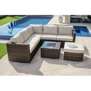 palermo rattan effect corner sofa set cover average width of 3 seater garden sets you ll love wayfair co uk quickview 0 apr financing