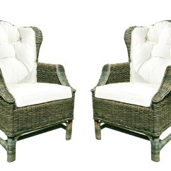 Rattan Wingback Chairs Bedroom Nursing Chair D Art Collection Wicker Set With