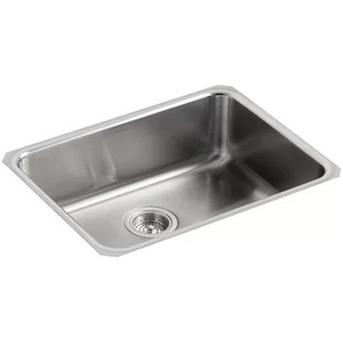 kitchen sink mats premade cabinets extra large wayfair undertone 23 l x 17 1 2 w 7 5 8 squared under mount single bowl