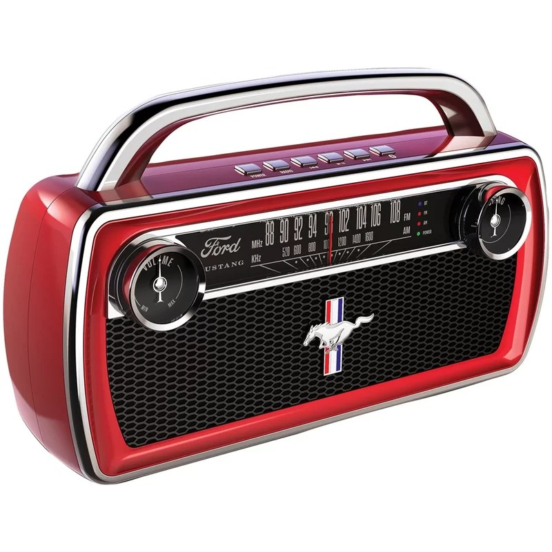 mustang stereo boombox with