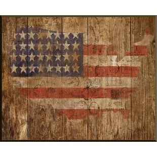 wooden american flag wall