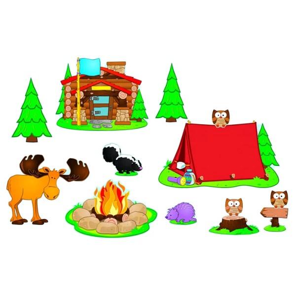 Carson Dellosa Publications Camping Bulletin Board Cut Out