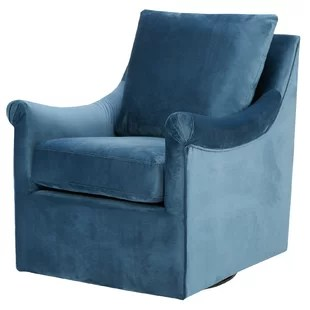 green velvet swivel chair best lift for elderly blue wayfair lundell armchair