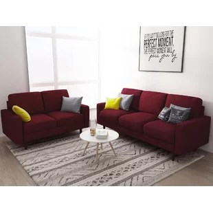 red living room furniture sets home decor ideas you ll love wayfair logan 2 piece set