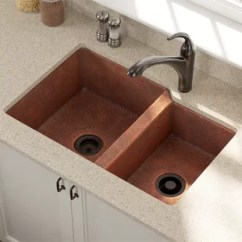 Copper Kitchen Sinks Liquid Dispenser You Ll Love Wayfair Ca 33 L X 22 W Double Basin Undermount Sink With Drain Assembly