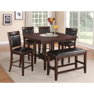 bench for kitchen table beadboard cabinets dining benches you ll love wayfair fulton counter height