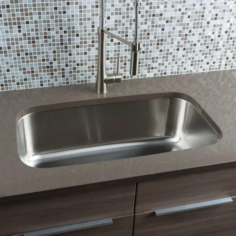 single sink kitchen black stainless steel hahn classic chef 31 5 l x 18 38 w bowl undermount ss012