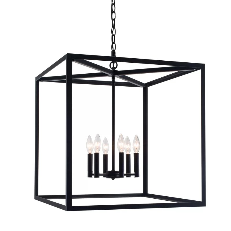 Gracie Oaks Willersley 6-Light Square/Rectangle Chandelier